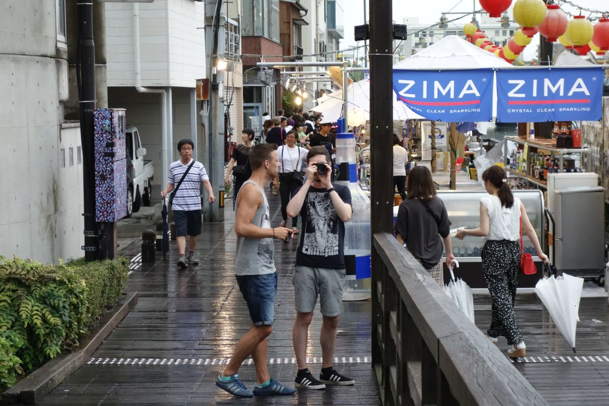 Sven und Andre auf den Straßen Tokushimas