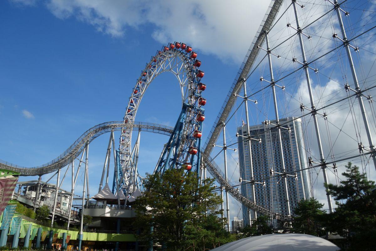 Tokyo Dome City Big O Riesenrad und Thunder Dolphin Achterbahn #2